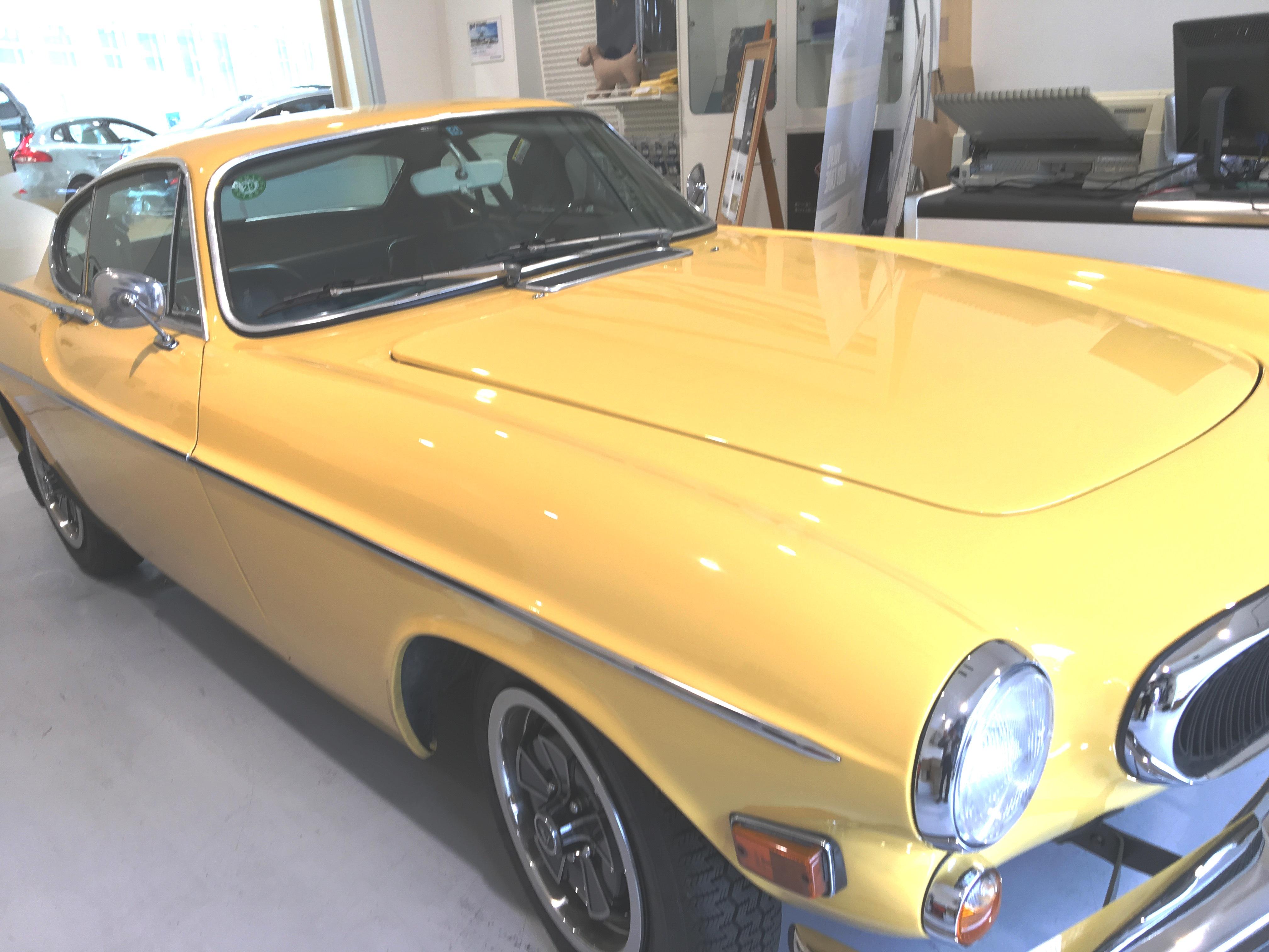 1971年式P1800にもノックスドールが塗布されている(ボルボ・カー・ジャパン代表木村氏所有)